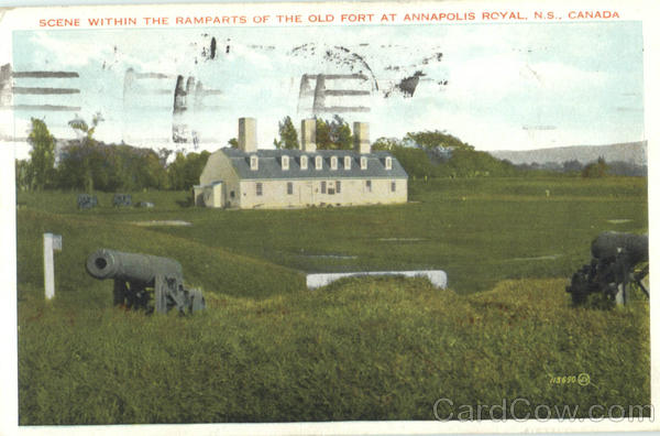 Scene Within The Ramparts Of The Old Fort At Annapolis Royal Canada