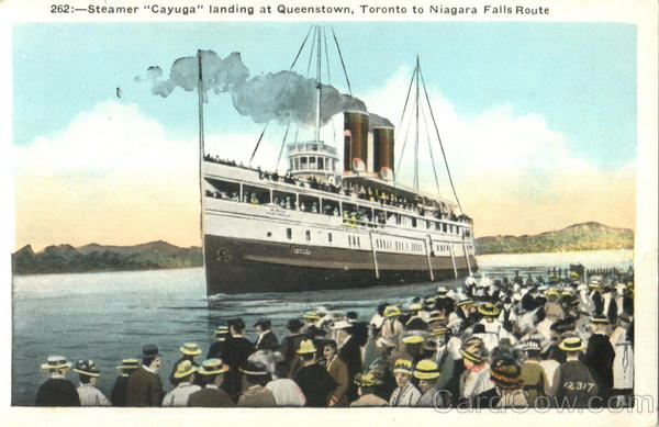 Steamer Cayuga Landing At Queenstown Canada Misc. Canada