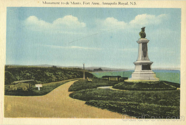 Monument To De Monts, Fort Anne Annapolis Royal Canada