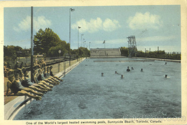 One Of The World's Largest Heated Swimming Pools Sunnyside Beach Ontario Canada