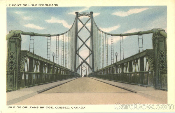 Isle Of Orleans Bridge Canada Quebec