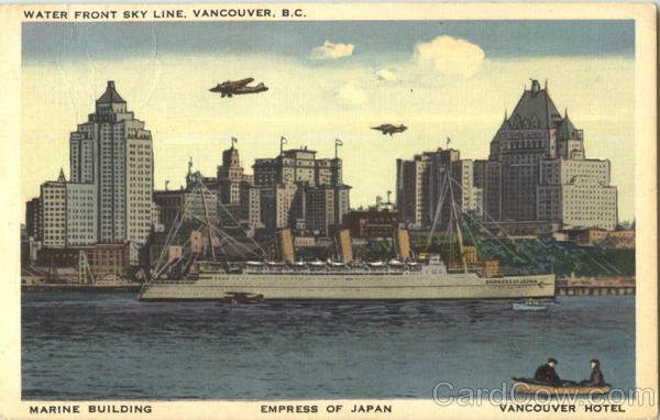 Water Front Sky Line Vancouver Canada British Columbia