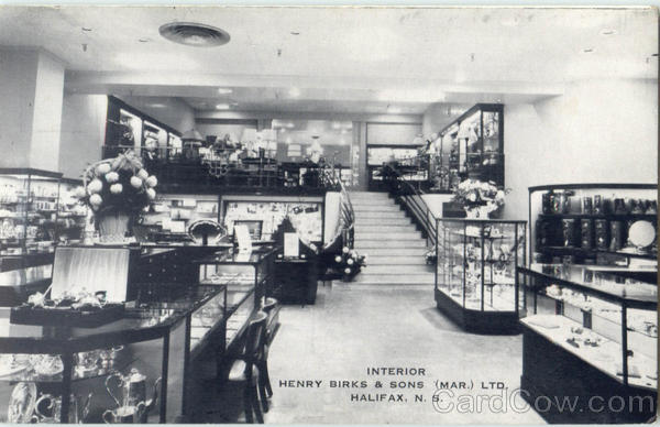 Interior View Henry Birks & Sons Ltd Halifax Canada