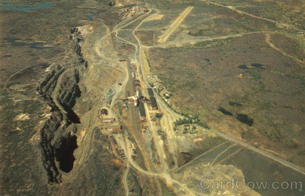 Aerial View Of Frood Open Pit Sudbury Ontario Canada