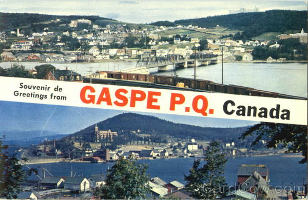 Greetings From Gaspe Canada Quebec