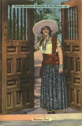 Smiling Mexican Senorita Of Old Mexico