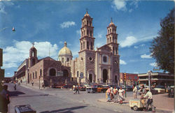 Cathedral Of Juarez City And Antique Mission Postcard