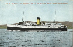 This Is The Boat That Brought Me To The Myrtle Hotel, Digby