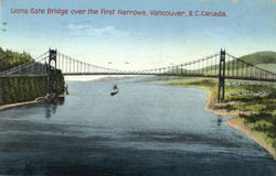 Lions Gate Bridge Over The First Narrows