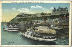 Chateau Fontenac And Citadel From The River Postcard