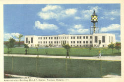 Administration Building R.C.A.F. Station Postcard