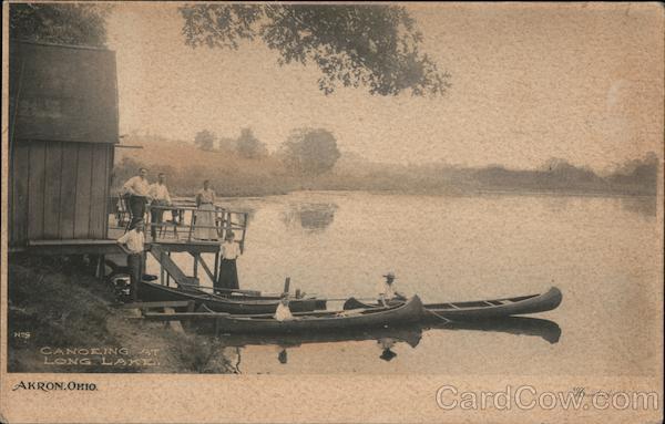 Canoeing at Long Lake Akron Ohio