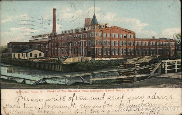 A Partial View of Works of the Standard Paint Company Bound Brook New Jersey