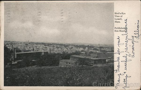 Brid's Eye View of Lowell, Massachusetts