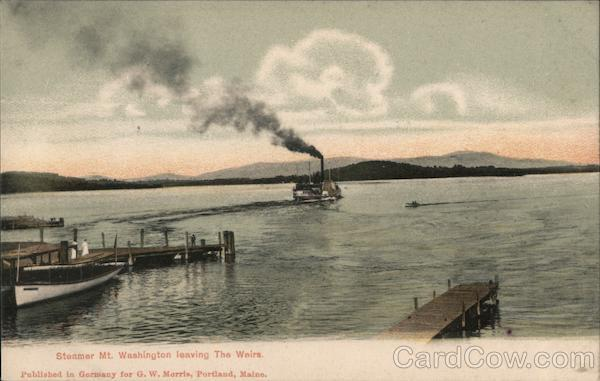 Steamer Mt. Washington leaving The Weirs Weirs Beach New Hampshire