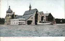 Boat Houses of General C Boldt Postcard
