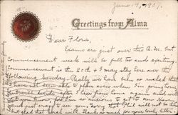 Greetings from Alma College Postcard