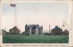Administration Building and Adjoining Cottages, Soldier's Home Postcard