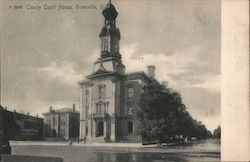 County Court House Greenville, OH Postcard