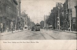 Center Street, Looking West from State Street Postcard