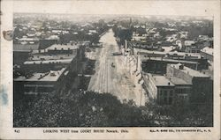 Looking West from Court House Postcard