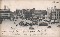 Public Square and North Main Street Postcard