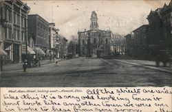 West Main Street looking East Postcard