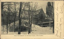 The University of Notre Dame - The Grotto Postcard