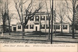 """Phelps House"" Birthplace and Many Years the Home of Elizabeth Stewart Ward Postcard"