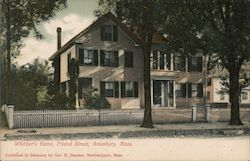 Whittier's Home, Friend Street Postcard