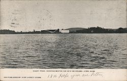 Sandy Pond, Showing Boston Ice Co's Ice Houses Postcard