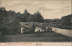 Old Grist Mill Bridge Postcard