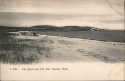 The Beach and Fish Hill Postcard