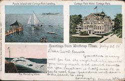 Greetings from Winthrop, Mass. Postcard