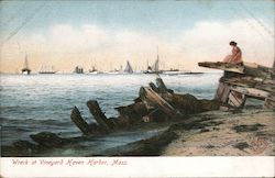 Wreck at Vineyard Haven Harbor, Mass