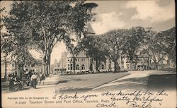 Taunton Green and Post Office Postcard