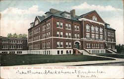 High School and Manual Training Buildings Postcard