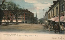 Main Street and Methodist Buiding Postcard
