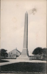 Monument to W.H. Mack and Life Savers of Monomoy Postcard