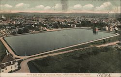 Bird's Eye View Taken From the Water Tower Postcard