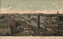 Bird's Eye View of Lawrence, Mass. From the Bay State Building Postcard