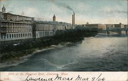 Mills on the Merrimac River Postcard