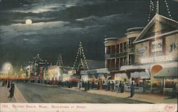 Revere Beach, Mass. Boulevard at Night