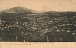 View of Claremont from Flat Rock Postcard