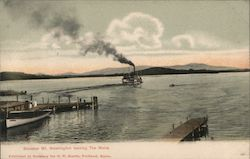 Steamer Mt. Washington leaving The Weirs Postcard
