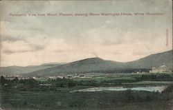 Panoramic View from Mount Pleasant, Showing Mount Washington House, White Mountains