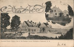 Cleveland Farms - County Seat of Ex-President Grover Cleveland Postcard
