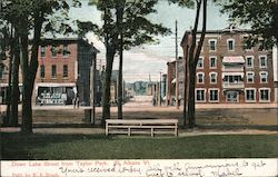 Down Lake Street from Taylor Park Postcard