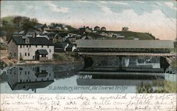 Old Covered Bridge Postcard