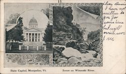 State Capitol, Scene on Winooski River